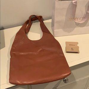 Ellen Degeneres brown leather hobo bag